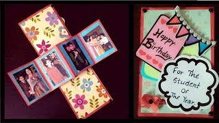 twist and pop up  card | pop up card ideas||handmade birthday card ideas|diy birthday cards