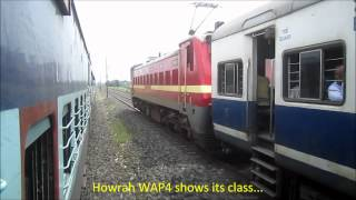 High Speed Parallel Action on Indian Railways_ NJP Shatabdi and Patna Jan Shatabdi Overtakes