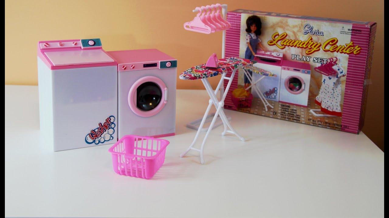 Gloria S Laundry Center Doll Furniture Play Set Barbie Youtube