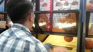 My playing to basketball arcade....for round 4 score...playing sm trece martires(04/05/19)