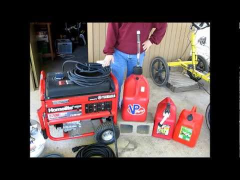 How to run a portable generator on gasoline. natural gas. and propane