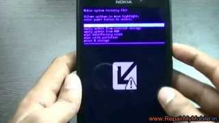 Remove Nokia XL password by hard reset