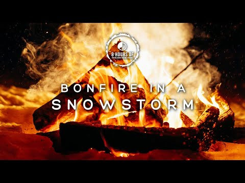 SNOW STORM SOUNDS and FIREPLACE SOUND EFFECT, Blizzard, Winter Storm, Snowstorm Fireplace Noise