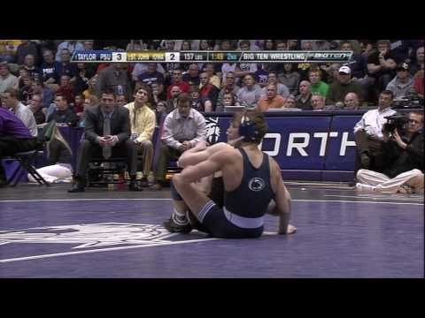 David Taylor vs. Derek St. John (157) - 2011 Big Ten Wrestling Championship