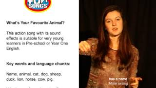 What's Your Favourite Animal - teaching action video