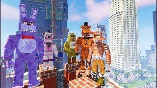 MY FIRST FNAF PIZZERIA IN GTA 5 MINECRAFT! (RedHatter FNAF Minecraft)