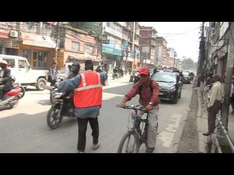 road-building in kathmandu