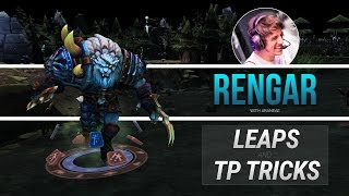 How to Rengar! (Leap and TP tricks!)