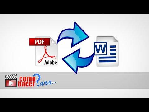 Cómo Convertir archivos PDF a WORD (.doc) GRATIS Sin Programas