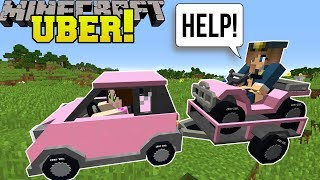BECOMING AN UBER DRIVER In Minecraft!!!