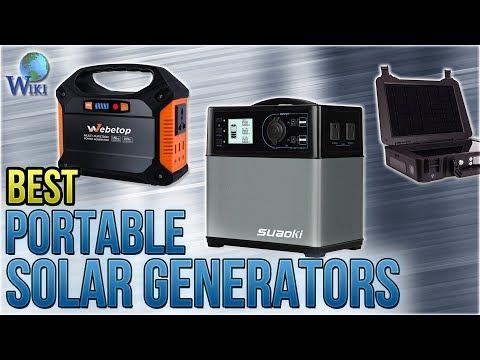 7 Best Portable Solar Generators 2018