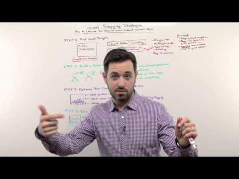 Guest Blogging Strategies - Whiteboard Friday Moz
