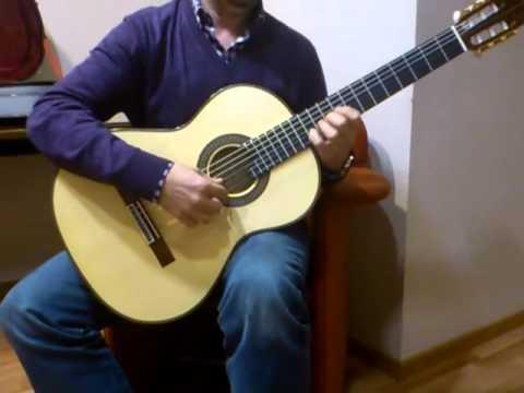 José María Gallardo y su nueva guitarra Contreras