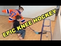 Kids HocKey   Epic Knee Hockey Game   Max (Jack Eichel) V Carter (Connor McDavid)