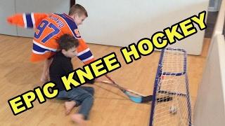Kids HocKey - Epic Knee Hockey Game - Max (Jack Eichel) v Carter (Connor McDavid)
