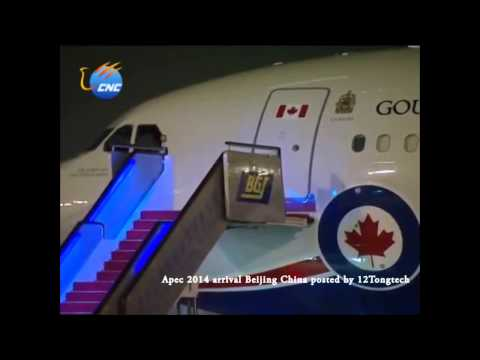 Presidents and Prime Ministers arrival at Apec 2014 Beijing Airport China