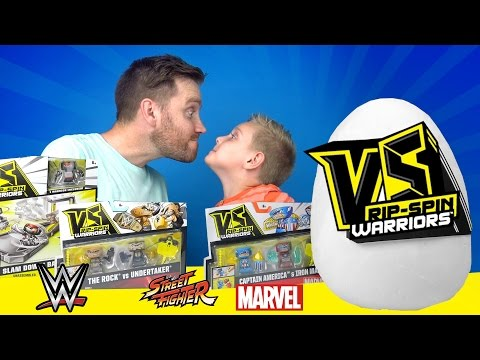 VS Rip-Spin Warriors & Superhero Surprise Egg Unboxing ft Spiderman Toys & WWE Toys   KIDCITY