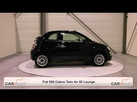 Fiat 500 Cabrio Twin Air 85 Lounge Crossover Black beige)
