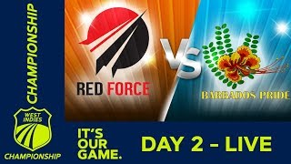 T&T Red Force v Barbados - Day 2 | West Indies Championship | Friday 18th January 2019