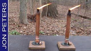 DIY Tabletop Tiki Torch, How to Make Candlestick Tiki Torch