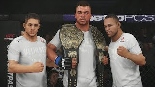 UFC 3 GOAT Career Mode - 2 Belts Hall of Fame! EA Sports UFC 3 Gameplay PS4