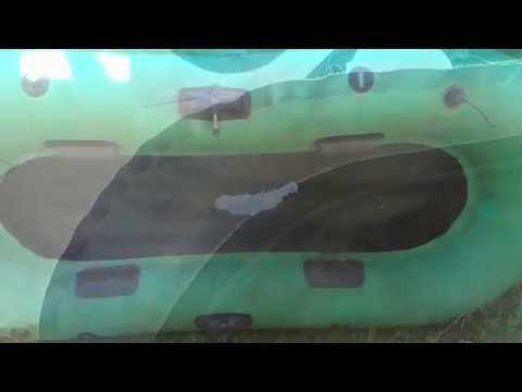 Быстрый ремонт большого пореза резиновой лодки