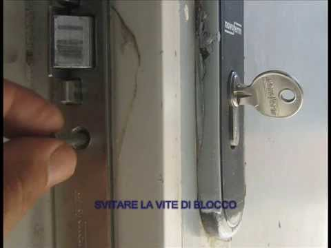 Come cambiare un cilindro di una serratura youtube - Serrature mottura sostituzione cilindro ...