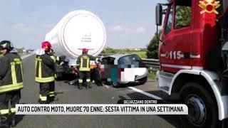 TG PADOVA (22/09/2018) - AUTO CONTRO MOTO, MUORE 70ENNE: SESTA VITTIMA IN UNA SETTIMANA
