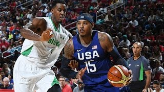 Nigeria @ USA 2016 Olympic Basketball Exhibition FULL GAME HD 720p English