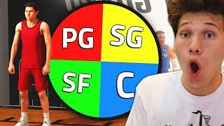 SPIN The WHEEL To CREATE My Player For the Park! NBA 2K19
