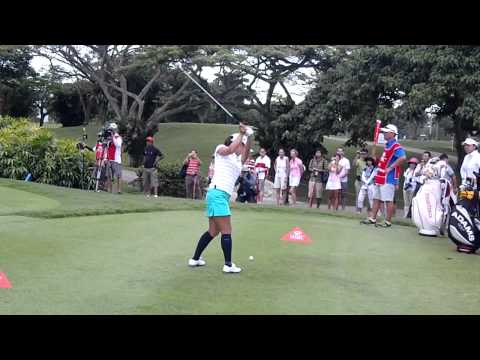 2012 Feb Sg LPGA Slowest Swinger Ai Miyazato.MP4