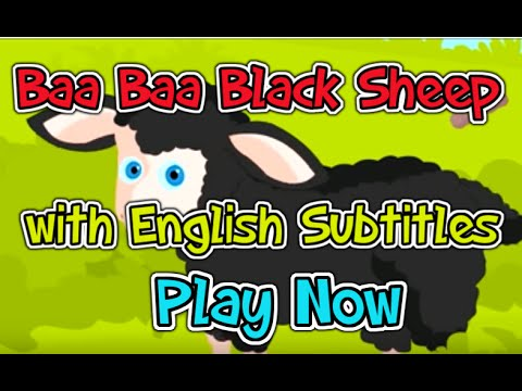 Baa, Baa, Black Sheep With English Subtitles - Nursery Rhymes video