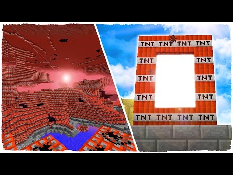 MINECRAFT: WE OPENED THE PORTAL TO THE DIMENSION OF TNT AND WE HAVE IT EXPLODED!