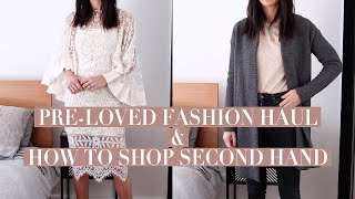 PRE-LOVED FASHION HAUL: How I shop secondhand [Wardrobe Basics 101 Sustainable Style] | Mademoiselle