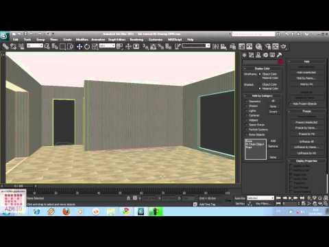 3DS  Max-Tutorial 06- Membuat Ruang Tidur (Import Ekspor Group)