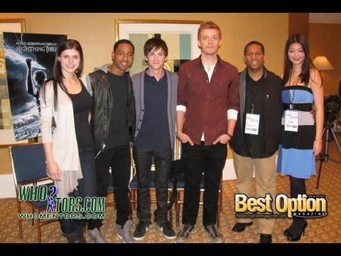 Logan Lerman, Brandon T. Jackson, Alexandra Daddario, Jake Abel (PERCY JACKSON CAST) FULL INTERVIEW Video