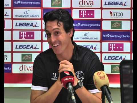 Rueda prensa Unai Emery, Podgorica (Montenegro). 07/08/13. Sevilla FC