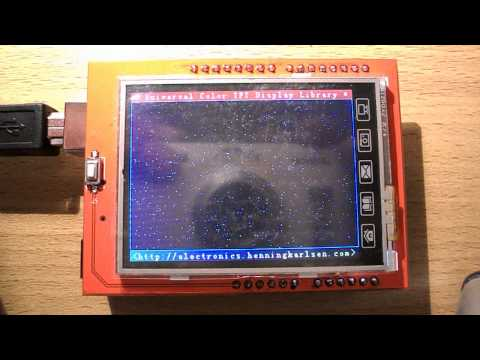 Arduino Uno 2.4 TFT LCD (SPFD5408) with modified UTFT