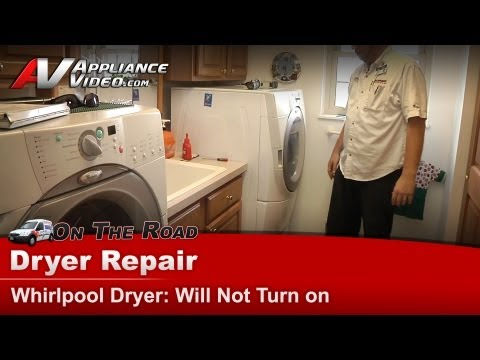 Dryer Repair will not start -Whirlpool.Maytag.KitchenAid.Sears.Kenmore.Roper-GEW9250PW1