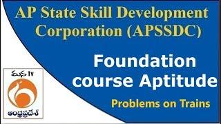 APSSDC | Foundation Course Aptitude | Problems on Trains  | MANATV Live