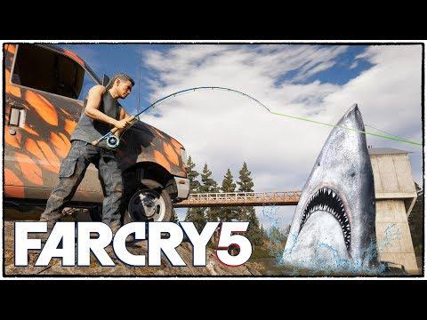 Сгоняли на рыбалку в Far Cry 5. С Саньком лучше не соревноваться. (Far Cry 5 кооператив #4)