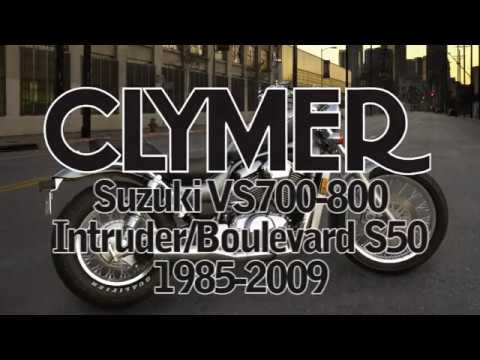Clymer Manuals Suzuki VS700 VS750 VS800 Intruder Boulevard S50 Manual intruderalert.com Video