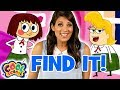 Find The Stepsisters! Cinderella - Story Time with Ms. Booksy | Find It Games | Cool School