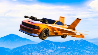 UNBELIEVABLE AIR CAR DESTROYER! (GTA 5 Funny Moments)