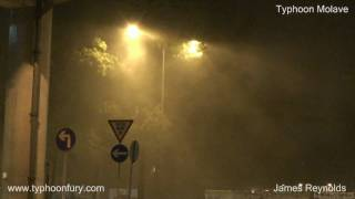 Typhoon Molave Crashes Into Hong Kong - Storm Chaser Video