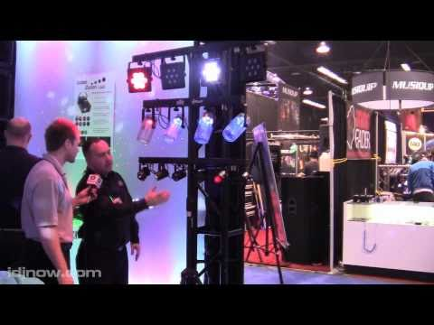 CHAUVET 4BAR TRI 4PLAY CL AND 6SPOT LED EFFECT LIGHTING FIXTURES NAMM 2011 FROM I DJ NOW