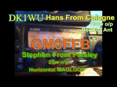 MAGLOOP in horizontal config GM0FFB chats with DK1WU Hans from Cologne