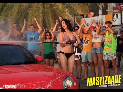 Sunny Leone Does Car Wash In Bikini For A Hindi Movie | Hot Cinema News video
