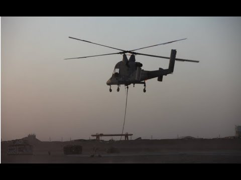 K-MAX Unmanned helicopter first combat delivery in Afghanistan