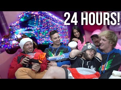 24-HOUR OVERNIGHT CHALLENGE IN THE CHRISTMAS COOL BUS!